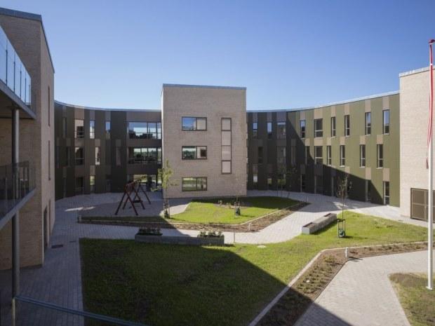 Aarhus Friplejehjem - Gårdrum udsigt