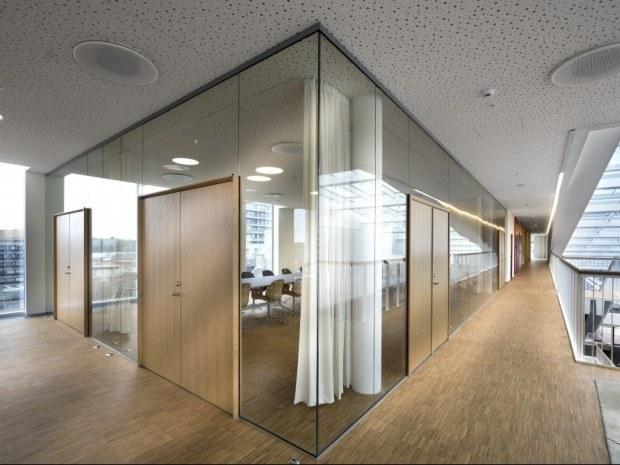 Rigshospitalet Patienthotel og Administration - Glasvægge