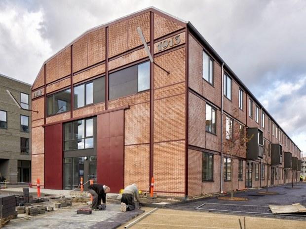 Valby Maskinfabrik, P1 og P2-hallerne - Facade