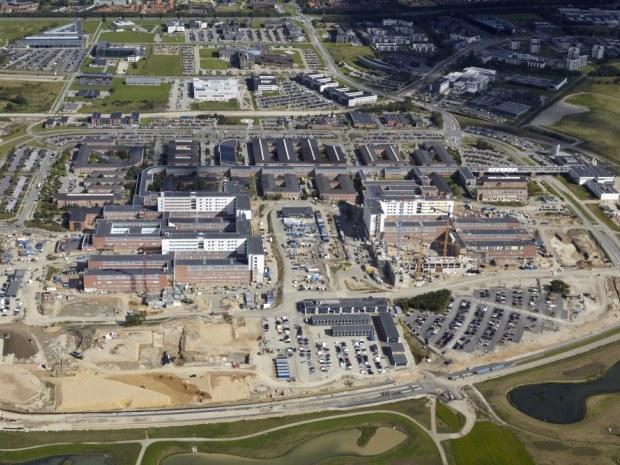 Det Nye Universitetshospital (DNU) - Luftfoto
