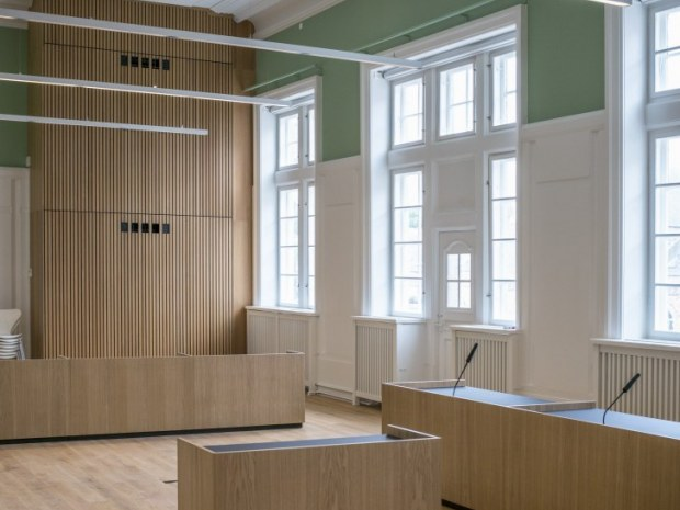 Retten i Aarhus - Retssalene