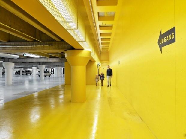 Thomas B. Thriges Gade p-kælder - Farvemarkeringerne