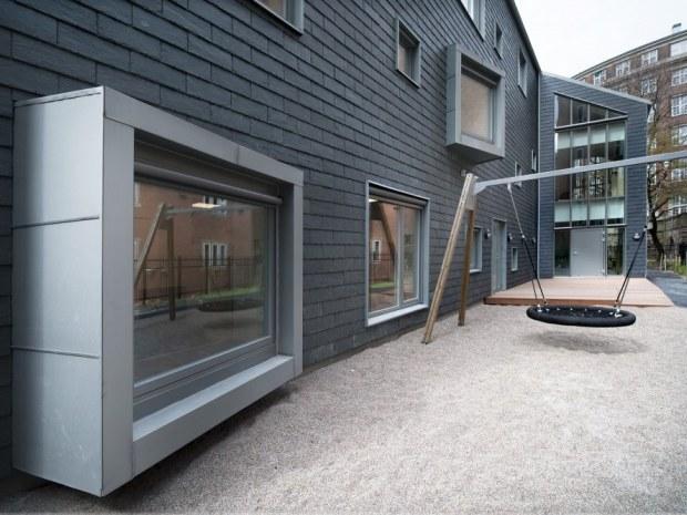 Børnebyen Vandværket, bygning B - vinduer