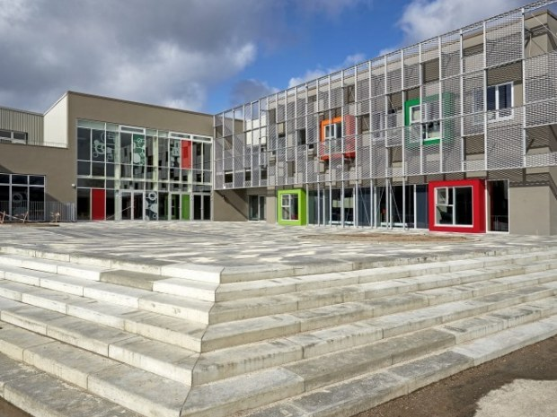 Ny Frederiksberg Skole - Facaderne