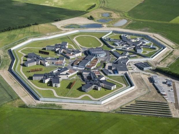 Storstrøm Fængsel - fra luften