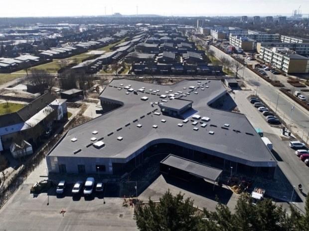 Krydset, Bydelshus - luftfoto