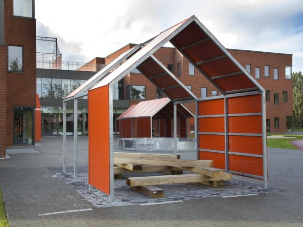 Lindbjergskolen - cykelparkering