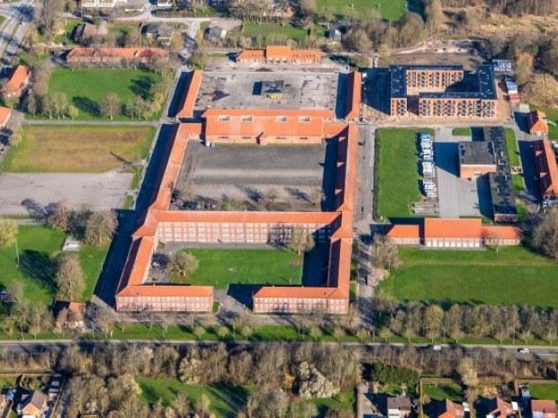 Randers Kaserne, Karré 6 - dronefoto